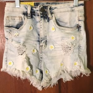 Machine pour neuf mode light wash denim short